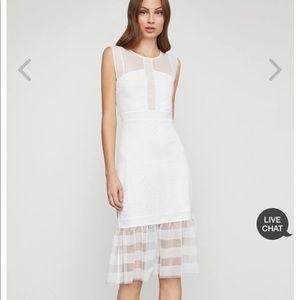 NWT BCBG sleeveless lace inset sheath dress